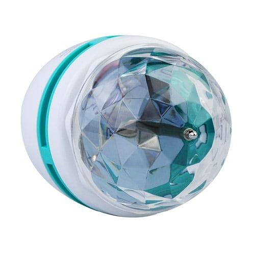 Bec disco rotativ cu 3 LED-uri