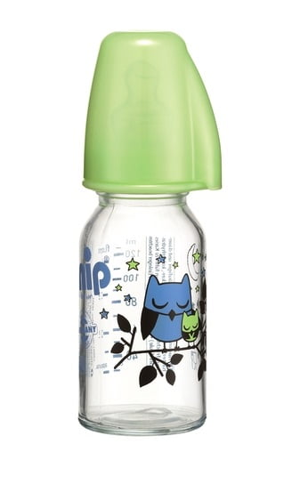 Biberon sticla 125 ml cu tetina latex pentru ceai nr 1 Nip 35014