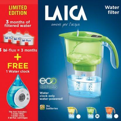 Cana Laica + 3 cartuse + ceas cu apa CADOU