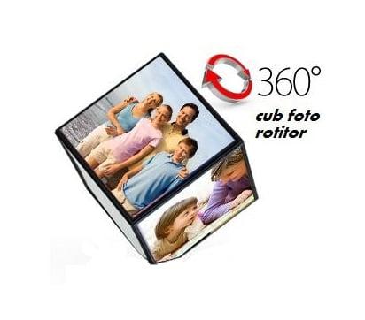 Rama foto rotativa in forma de cub