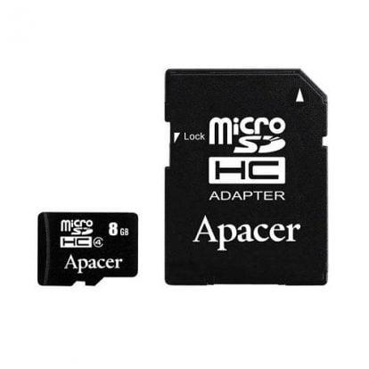 Card microSD 8 GB + adaptor SD