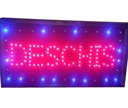 Panou luminos cu LED-uri - Deschis