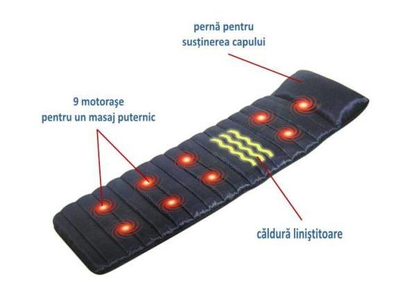 Saltea de masaj cu caldura BYM-600