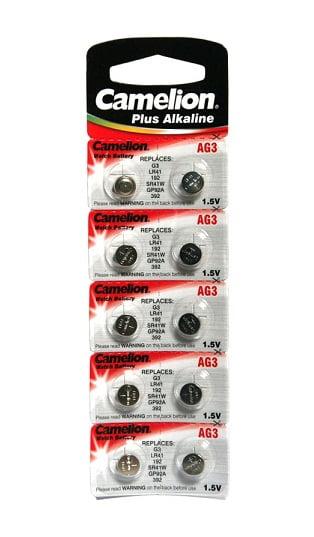 Set 10 baterii AG3 Camelion Plus Alkaline