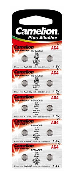Set 10 baterii AG4 Camelion Alkaline