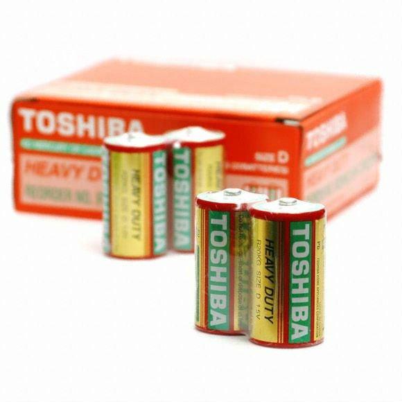 Set 2 Baterii R20 Toshiba Heavy Duty