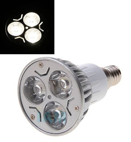 Bec spot cu 3 LED-uri E14